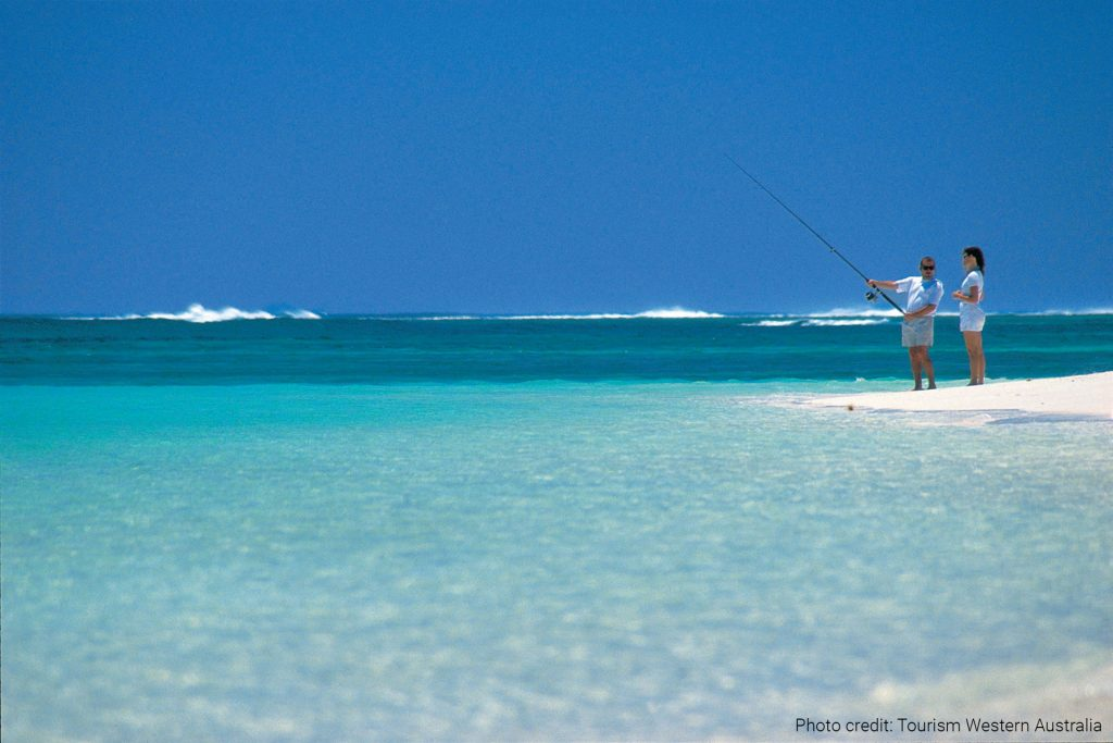 Beach fishing, near Exmouth